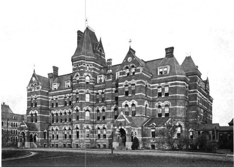Hudson River State Hospital main Kirkbride building circa 1916