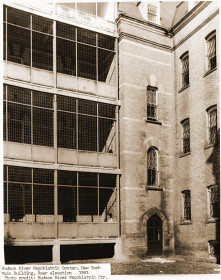Hudson River State Hospital main building rear elevation 1985