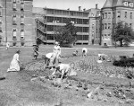 Hudson River State Hospital patients gardening