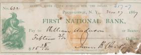 Hudson River State Hospital check 1867