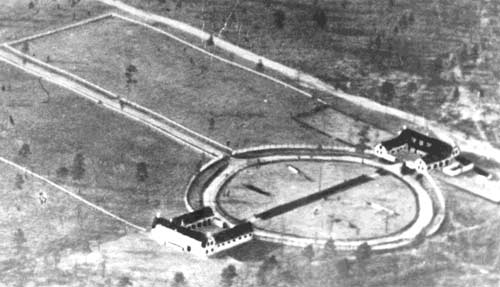 Early aerial photo of the Overhills Grand Circus.