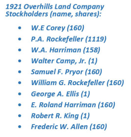 Overhills-Land-Company-1921-shareholders