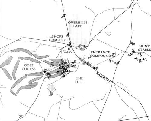The six sections of Overhills