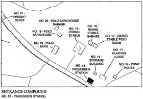 Overhills entrance complex site map