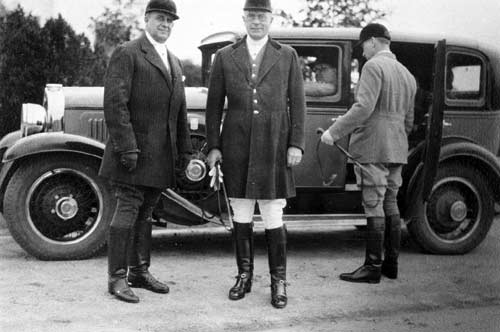 Percy A. Rockefeller (center) at Overhills, circa 1920.