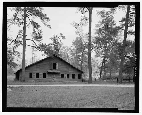 Abandoned Overhills Polo Barn, circa 2005.