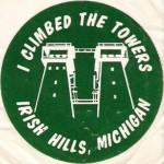 I climbed the towers at Irish Hills, Michigan