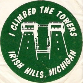 I climbed the towers at Irish Hills, Michigan