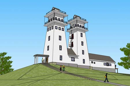 A proposed renovation of the Irish Hill Towers