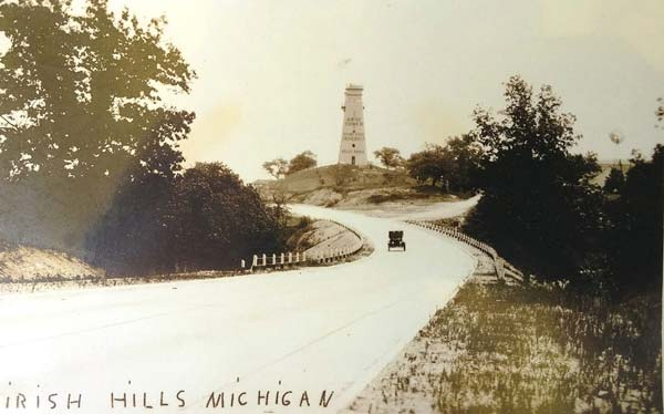 The Gray Tower, as seen from Chicago Road in the 1920's