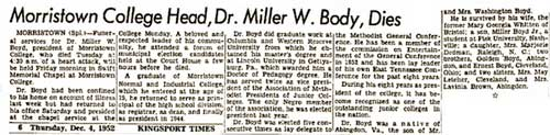 Dr. Miller Boyd obituary