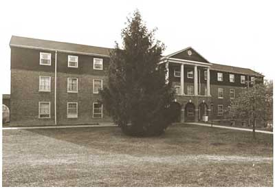 Third Crary Hall, east elevation circa 1983