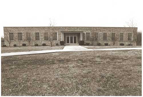 The Sheeley-Drew Centennial Science Hall in 1983