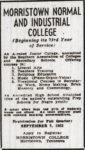 Morristown advertisement, circa 1953