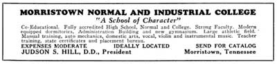Morristown Industrial College advertisement, circa 1931