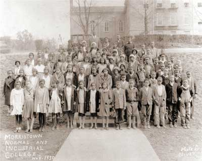 Morristown College class photo, circa 1930