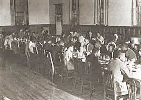 Dining inside the Kenwood Refectory, circa 1950s