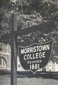Morristown College sign
