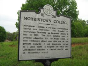 Morristown College historic site signage