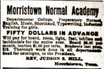 Morristown Normal Academy advertisement 1894