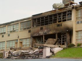 Afton Mountain Skyline Parkway Motel after 2004 fire