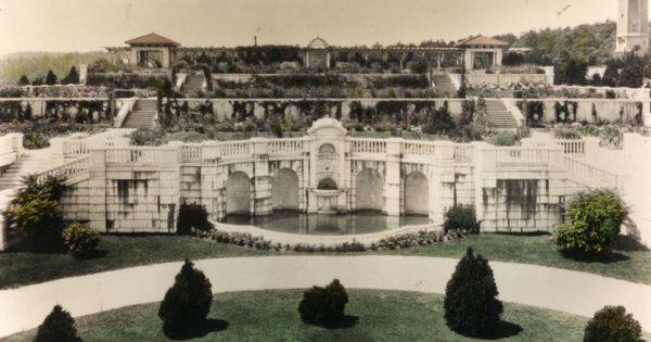 Swannanoa terraced gardens 1940s