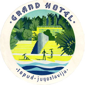 Emblem / logo for the Grand Hotel of Lopud, Yugoslavia