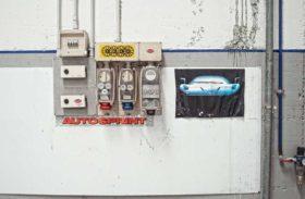 Inside the former Bugatti EB110 factory in Campogalliano, Italy.