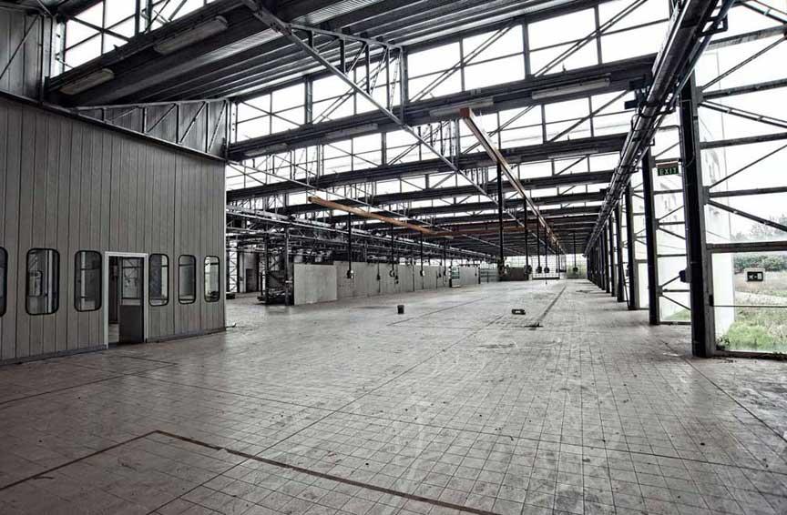 Bugatti Automobili SpA abandoned factory
