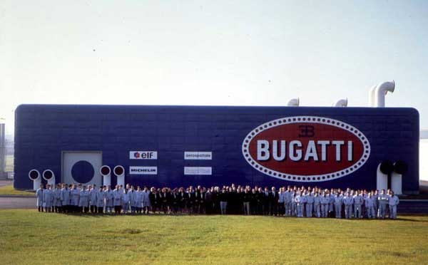 Bugatti Automobili, SpA company photo, circa 1993.