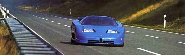 Bugatti EB110 highway cruising