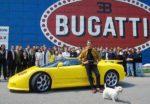 In April of 1994 Michael Schumacher visited Bugatti Automobili in Campogalliano to pick up his yellow EB110 SS.
