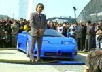 French cinema star and Bugatti collector Alain Delon hosted the EB110 unveiling at the Bugatti Expo on September 15th, 1991.