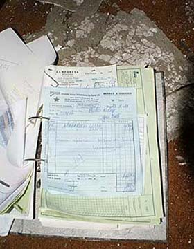 Paperwork left behind at the abandoned Monte Palace Hotel in Sao Miguel, Azores