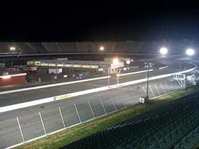 """""""The race"""" was supposed to be Historic North Wilkesboro Speedway's first night race under the lights."""