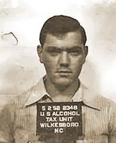 Junior Johnson bootlegger arrest photo