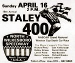 Ad for final Gwyn Staley 400 race at North Wilkesboro Speedway, circa 1978