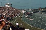 North Wilkesboro Speedway during a 1980s NASCAR race.