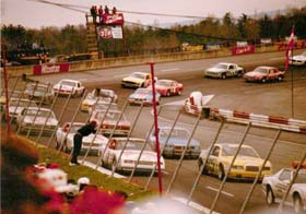North Wilkesboro Speedway hosting a NASCAR race in the early 1980s.