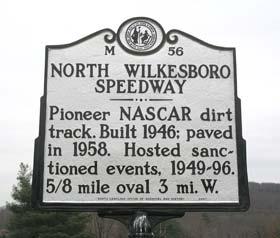 North Wilkesboro Speedway historic marker signage