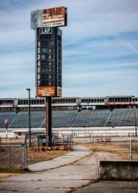North Wilkesboro Speedway's electric scoring tower today.