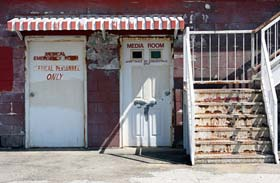 Media room entrance at the Historic North Wilkesboro Speedway
