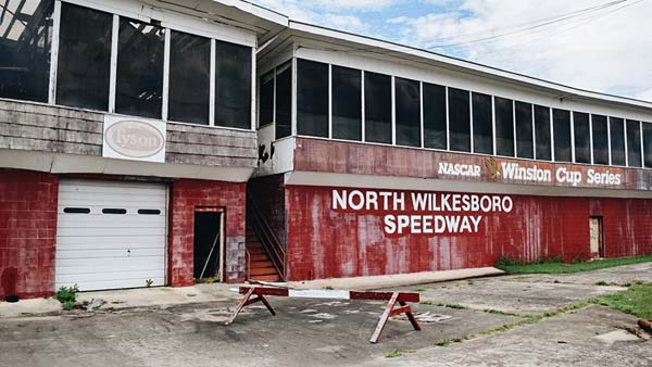 The buildings at North Wilkesboro Speedway are crumbling.