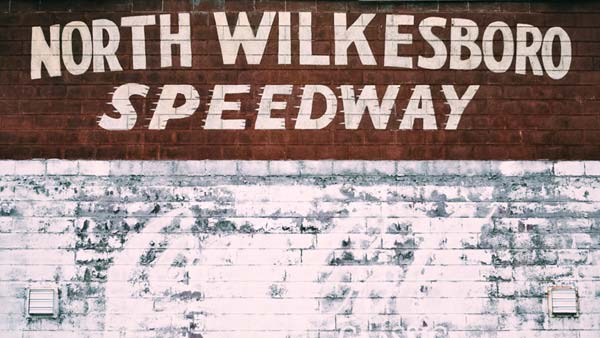 North Wilkesboro Speedway painted wall sign