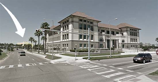The Federal Courthouse was built in 2000, three blocks east of the 1914 Nueces County Courthouse