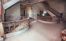 Upper level landing in the old Nueces County Courthouse, circa 2006.