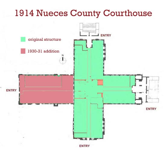 1914 Nueces County Courthouse & 1930-31 addition
