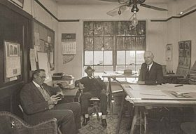 Unidentified office in the old 1914 Nueces County Courthouse.