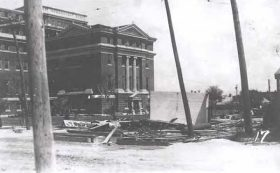 Nueces County Courthouse after the 1919 Texas Hurricane.