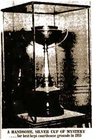 Mystery Cup in Nueces County Courthouse 1960